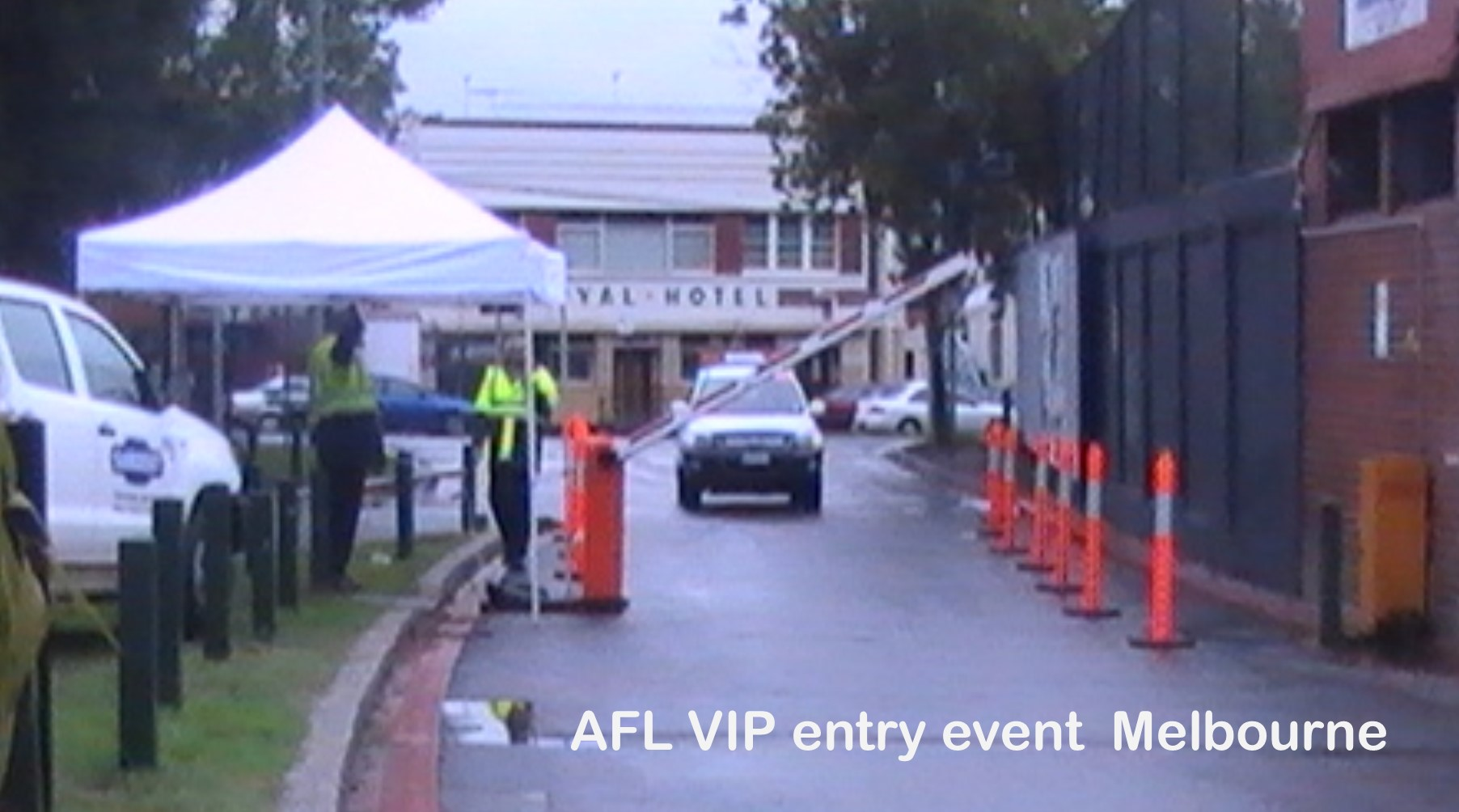AFL Football Event Boom Gate Hire
