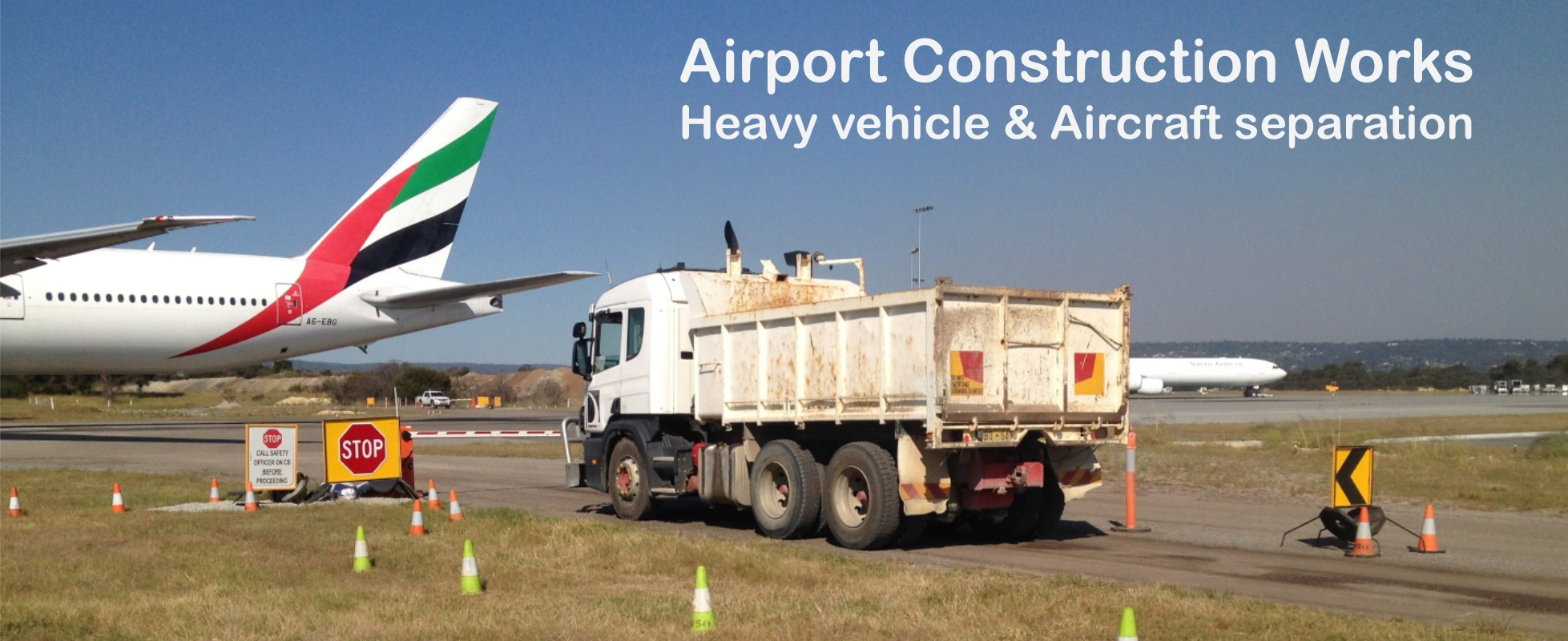 Airport Construction Works Boom Gate Hire