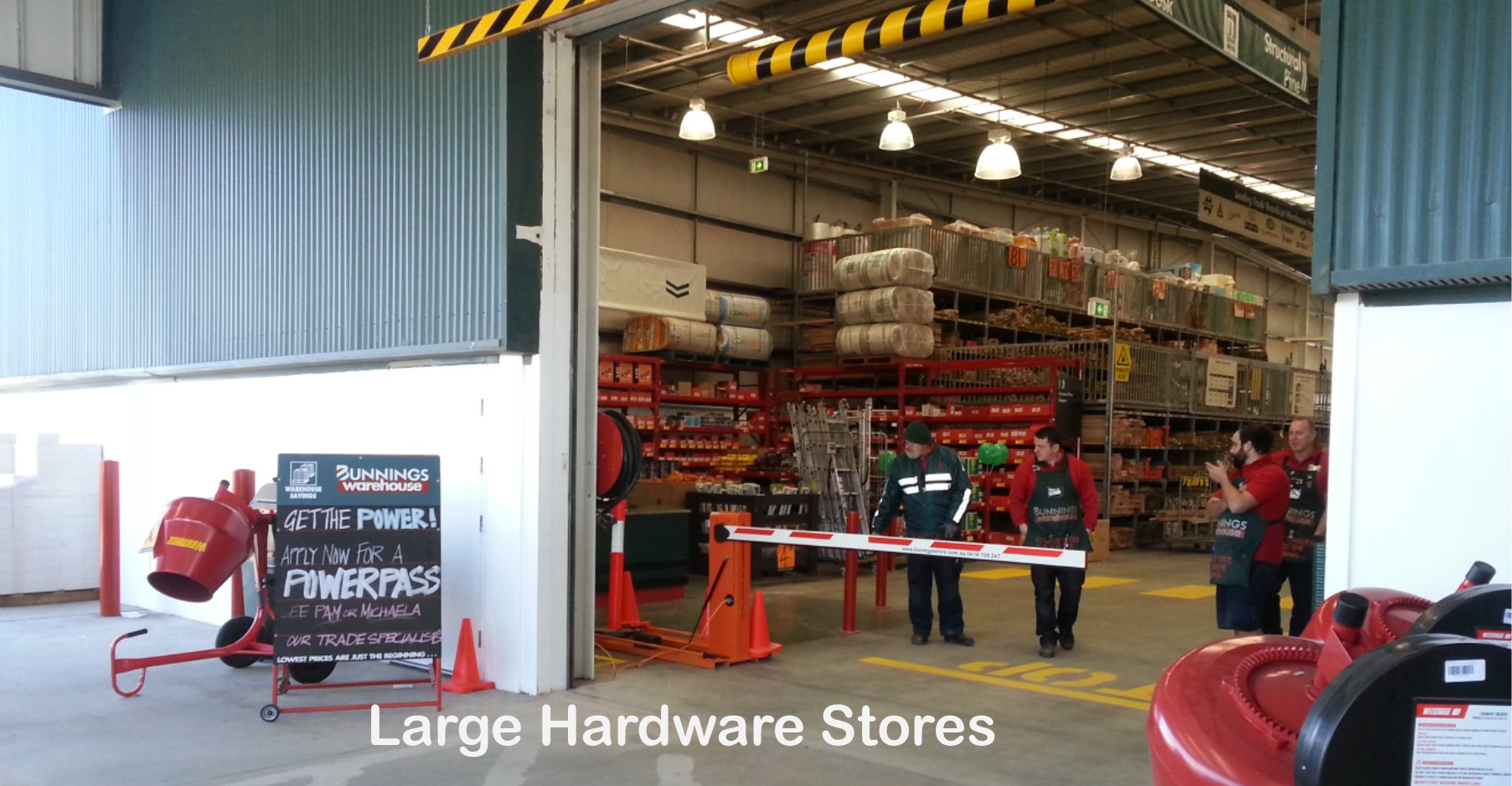 Hardware Store Traffic Control Boom Gate Hire